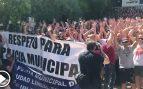 Cacerolada de 500 policías municipales contra Manuela Carmena