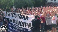Manifestación de policías municipales contra el Ayuntamiento de Madrid