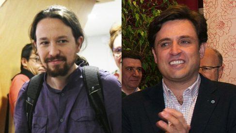 Pablo Iglesias y Daniel Pérez, alcalde de Galapagar.