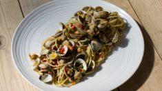 Receta de Pasta con berberechos fácil de preparar
