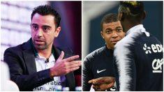 Xavi, Mbappé y Pogba. (Fotos: AFP)