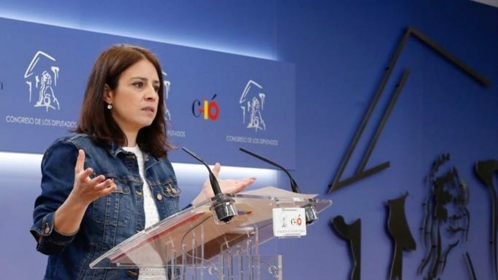 Adriana Lastra, portavoz del PSOE en el Congreso. (EP)