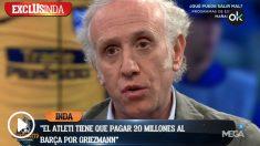 Inda dio detalles de lo que costará al Atlético mantener a Griezmann.