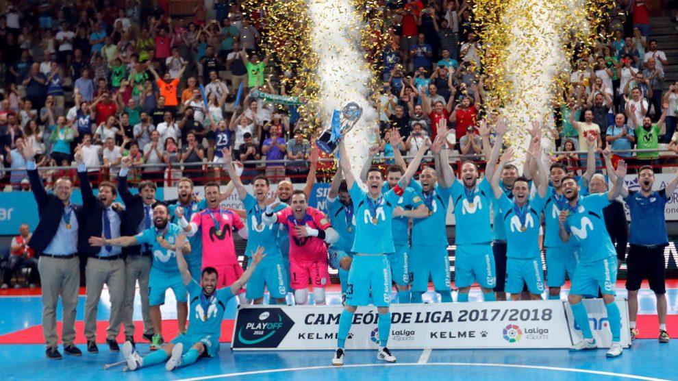 Inter Movistar celebra el título de Liga. (EFE)