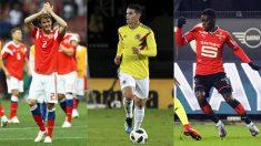 Mario Fernandes, James Rodríguez e Ismaila Sarr, jugadores a seguir hoy en el Mundial 2018.
