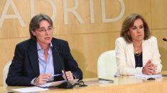 Marta Higueras y Puri Causapié presentando la nueva Tarjeta. (Foto. Madrid)