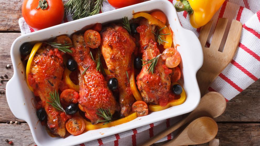 Receta de pollo al horno con pimentón fácil de preparar