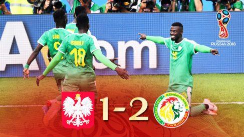 Senegal se impuso a Polonia. | Mundial 2018 Rusia