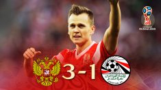Rusia pudo con Egipto (3-1) y jugará los octavos de final del Mundial.