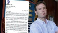 Carta Alcalde de Sada Benito Portela