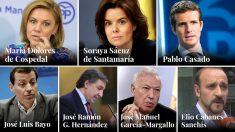 Los candidatos del PP que aspiran a suceder a Rajoy