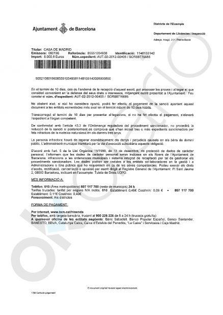 Colau carga contra el propietario del local donde se reúne Tabarnia: multa de 12.000 € y embargo