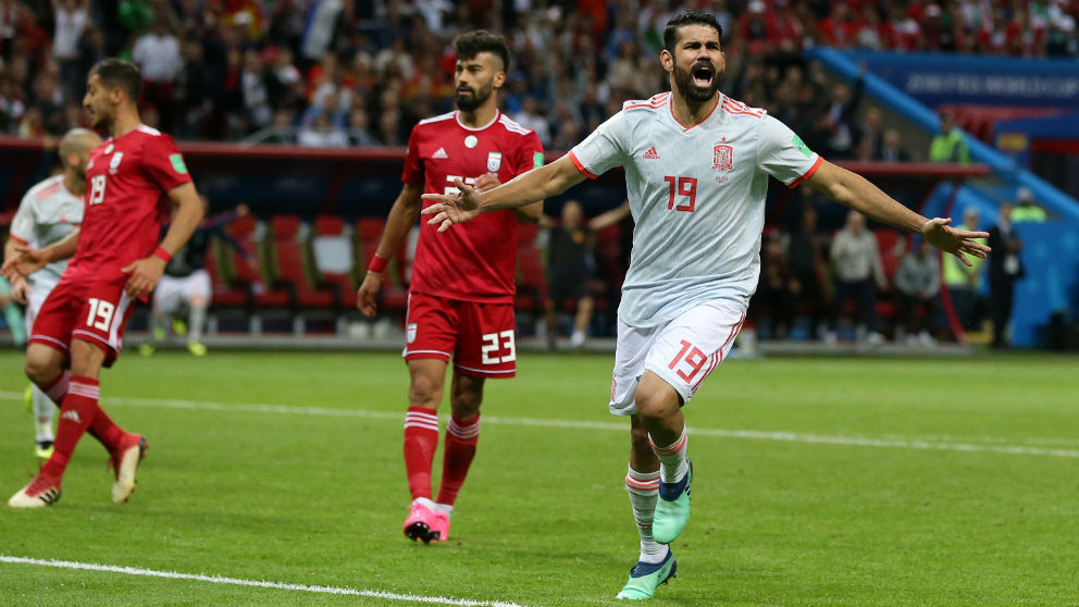 Diego Costa celebra el gol contra Irán | Mundial 2018 (Getty) | Irán – España