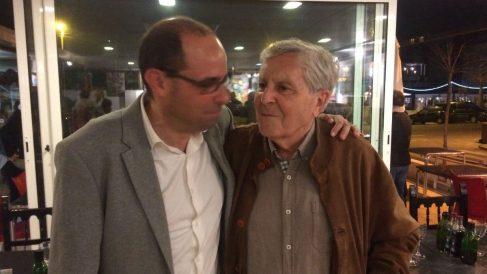 Miguel Ángel Díaz (izda), con el ex fiscal general y ex diputado de Podemos Carlos Jiménez Villarejo.