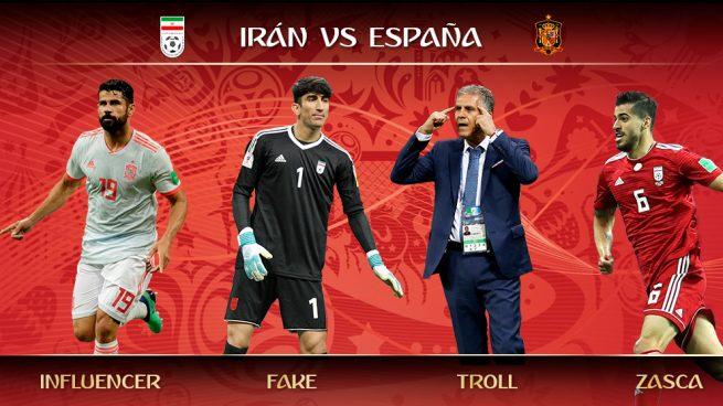 Los trending topics del Irán – España