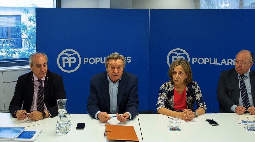 Luis de Grandes en el Comité Organizador del Congreso del PP. (Foto. PP)