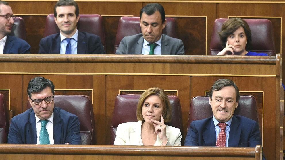 Bancada del Grupo Popular en el Congreso de los Diputados. (Foto: EFE)
