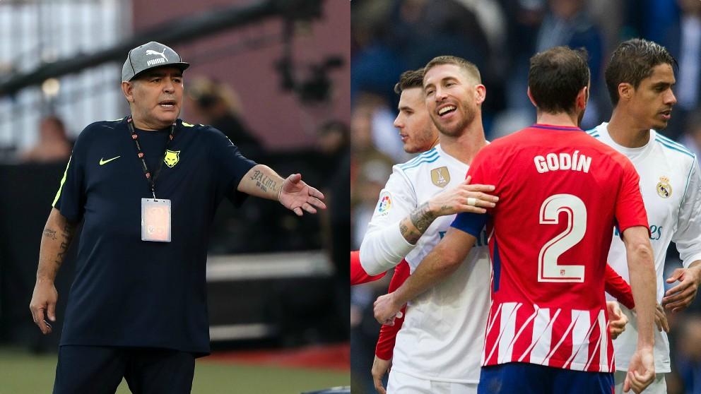 Maradona, Godín y Ramos.