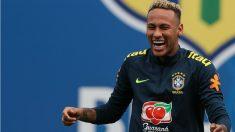 Neymar volvió a los entrenamientos de Brasil. (Getty)