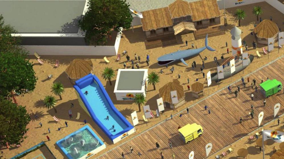 La playa Mad Beach estará en la Plaza de Colón.