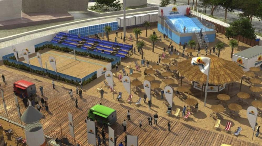 Playa Mad Beach | El proyecto de la playa de Madrid estará situado en la Plaza de Colón.