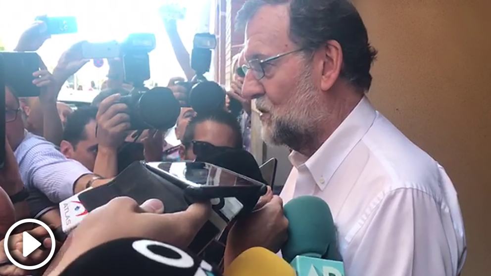 Mariano Rajoy toma posesión de su nuevo cargo como registrador de la propiedad en Santa Pola (Alicante)