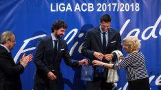 El Real Madrid celebra el título de Liga Endesa con Carmena y sin Doncic. (EFE)