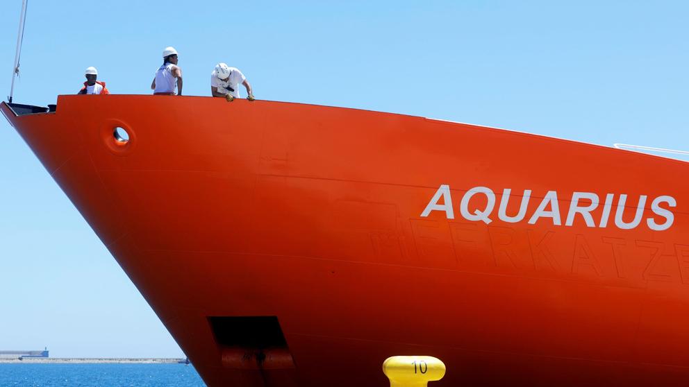 Barco 'Aquarius'. (Foto: EFE)