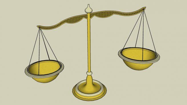 la simbología de la balanza de justicia