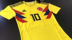 Camiseta de la selección de Colombia para el Mundial 2018.