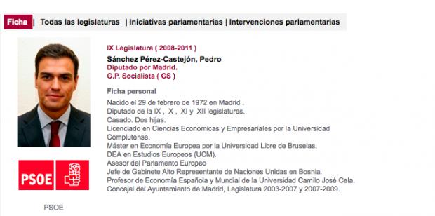 Pedro Sánchez lleva 10 años mintiendo en su currículum