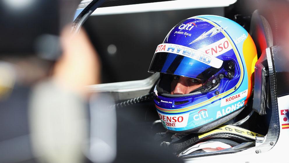 Fernando Alonso, en la carrera de las 24 horas de Le Mans. (Getty)