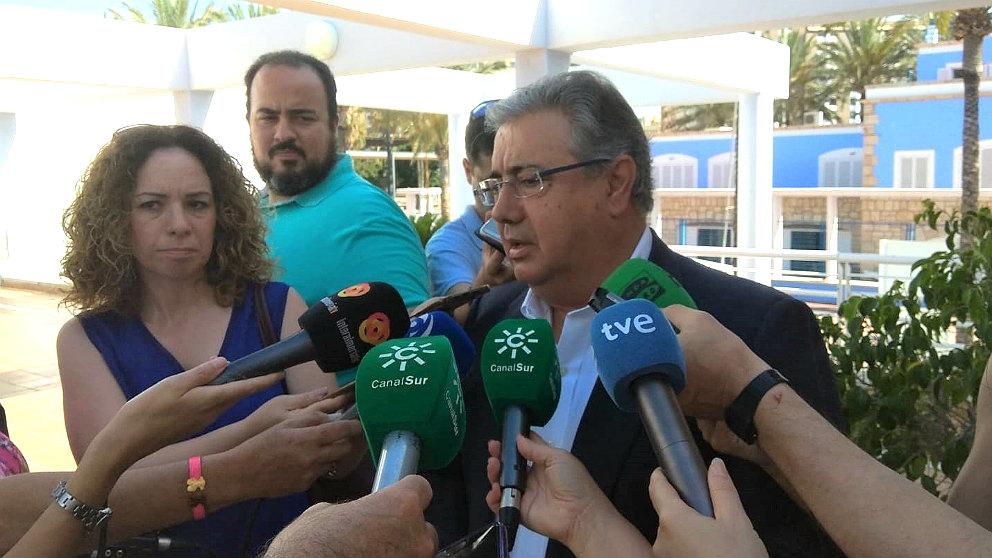 Juan Ignacio Zoido, ex ministro del Interior, en Almería. (EP)