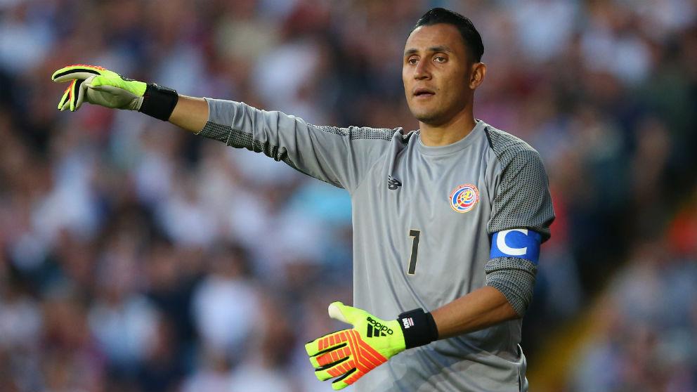 Keylor Navas, en un partido con Costa Rica. (Getty)
