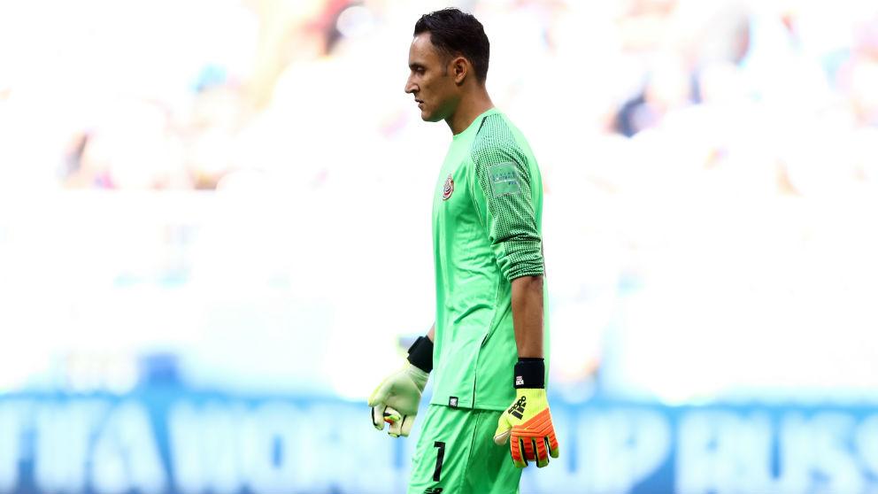 Keylor Navas durante un partido con Costa Rica. (Getty)