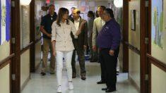 Melania Trump visita la frontera con México (AFP).