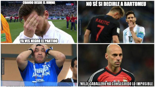 Los mejores memes del Argentina – Croacia en el Mundial 2018