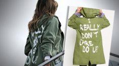Melania Trump con la chaqueta de Zara