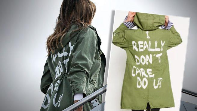 """Melania luce una chaqueta con el lema """"A mí no me importa"""" en su visita a los niños inmigrantes"""