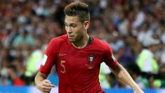 Guerreiro, en un partido con Portugal. (AFP)