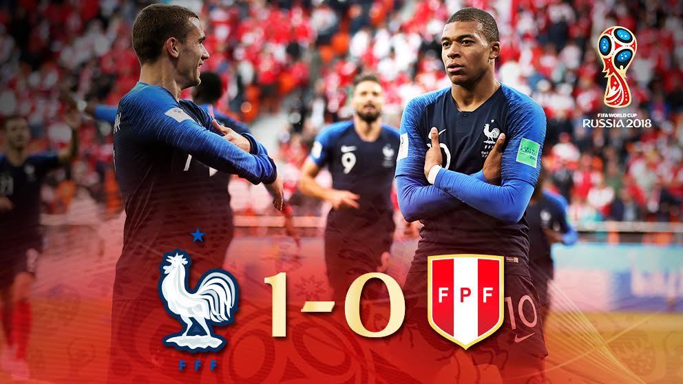 Francia se impuso a Perú en la segunda jornada del Mundial 2018.