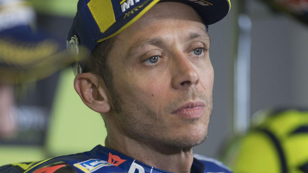 Valentino Rossi, durante una carrera. (Getty)