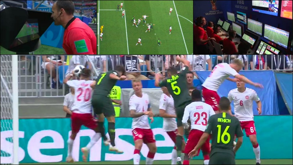 Mateu Lahoz usó el VAR para señalar penalti a favor de Australia.