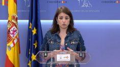 Adriana Lastra, portavoz del PSOE en el Congreso de los Diputados. (EP)