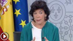 """La ministra portavoz Isabel Celáa llama """"disfunción"""" al CV falso del presidente del Gobierno y asegura """"no le consta"""""""