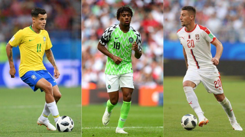 Coutinho, Iwobi y Milinkovic-Savic, jugadores a seguir en el Mundial 2018. (Getty)