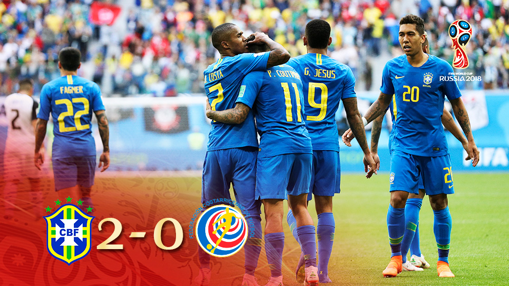 Brasil se impuso a Costa Rica en San Petersburgo.
