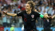 Luka Modric celebra su gol ante Argentina. (Getty Images)