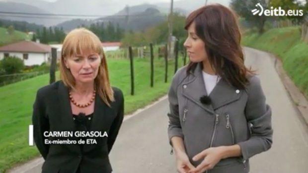 La que fuera dirigente del 'Comando Vizcaya' de ETA Carmen Guisasola, entrevistada en el documental 'Huellas Perdidas'. / Foto: EiTB