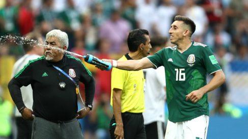 Héctor Herrera, en un partido del Mundial. (Getty)